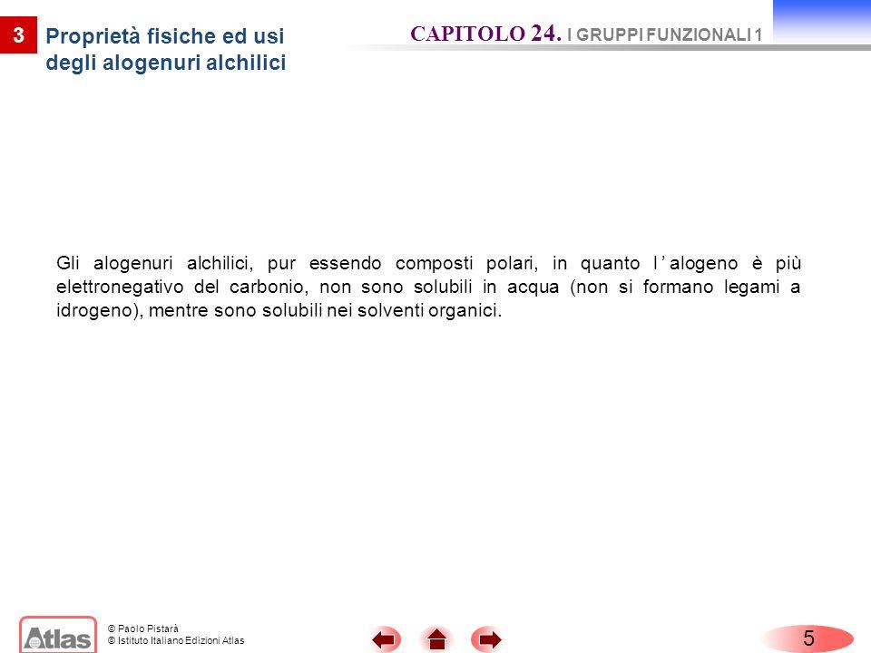 © Paolo Pistarà © Istituto Italiano Edizioni Atlas 4 Proprietà chimiche degli alogenuri alchilici Gli alogenuri alchilici danno reazioni di sostituzione nucleofila.