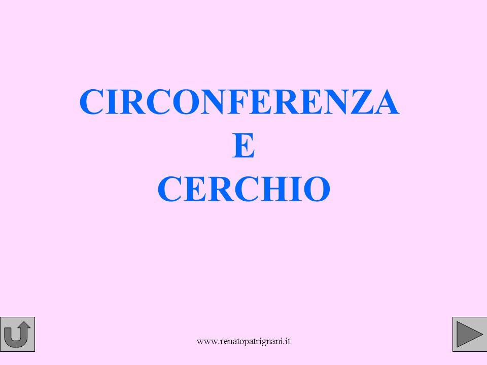 www.renatopatrignani.it CIRCONFERENZA E CERCHIO