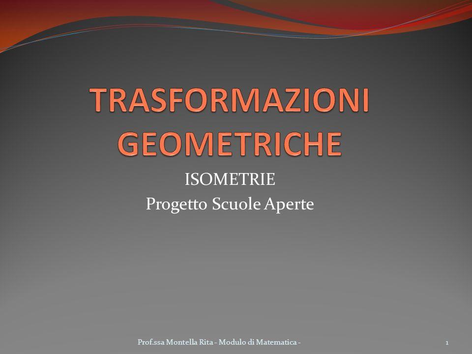 ISOMETRIE Progetto Scuole Aperte 1Prof.ssa Montella Rita - Modulo di Matematica -
