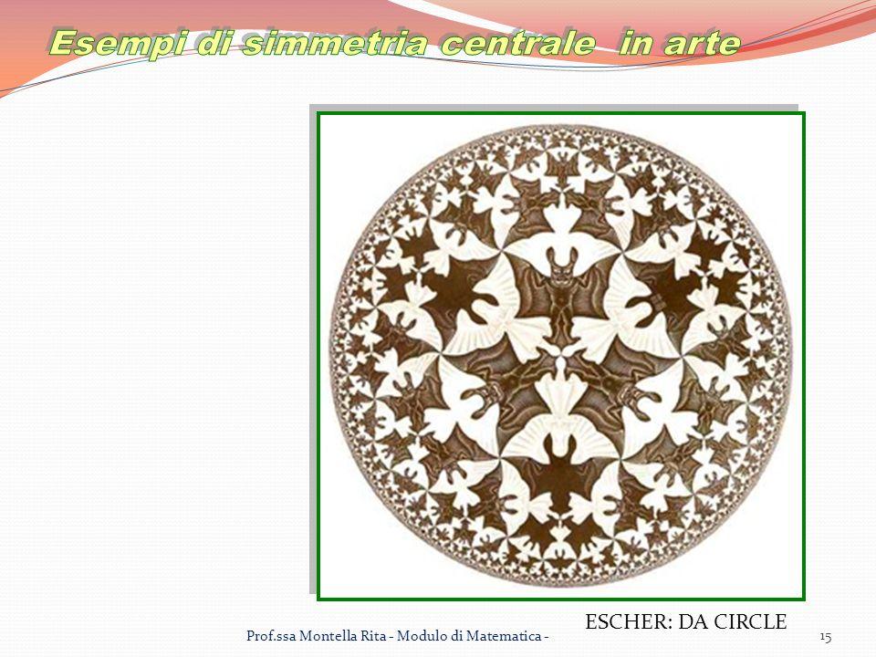 ESCHER: DA CIRCLE 15 Prof.ssa Montella Rita - Modulo di Matematica -