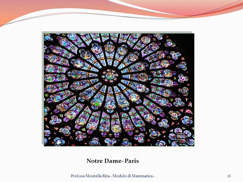 Notre Dame- Paris 16Prof.ssa Montella Rita - Modulo di Matematica -