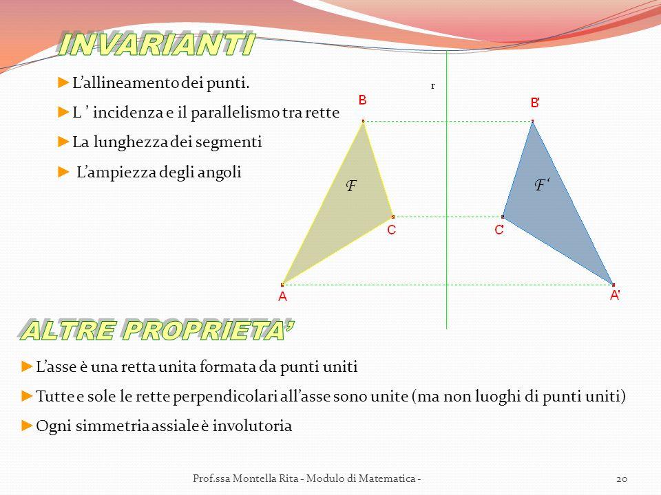 F F r 20Prof.ssa Montella Rita - Modulo di Matematica -