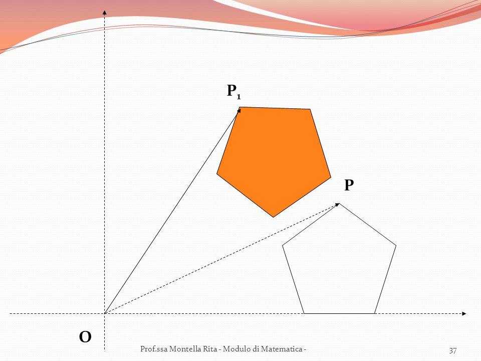 O P P1P1 37Prof.ssa Montella Rita - Modulo di Matematica -