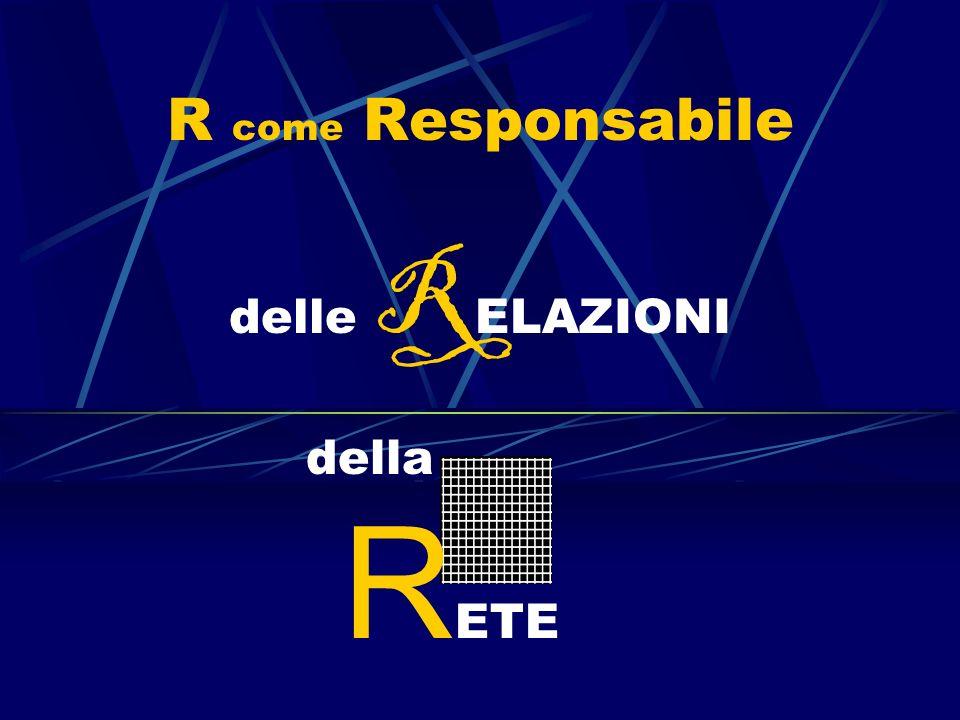R come Responsabile delle R ELAZIONI della R ETE