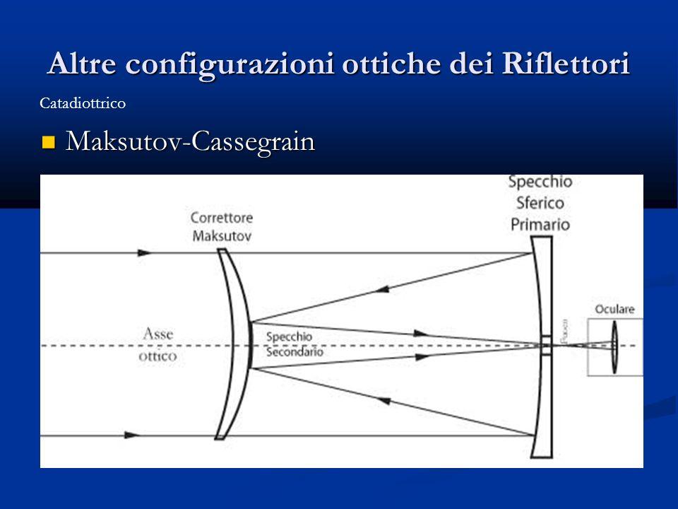 Altre configurazioni ottiche dei Riflettori Maksutov-Cassegrain Maksutov-Cassegrain Catadiottrico
