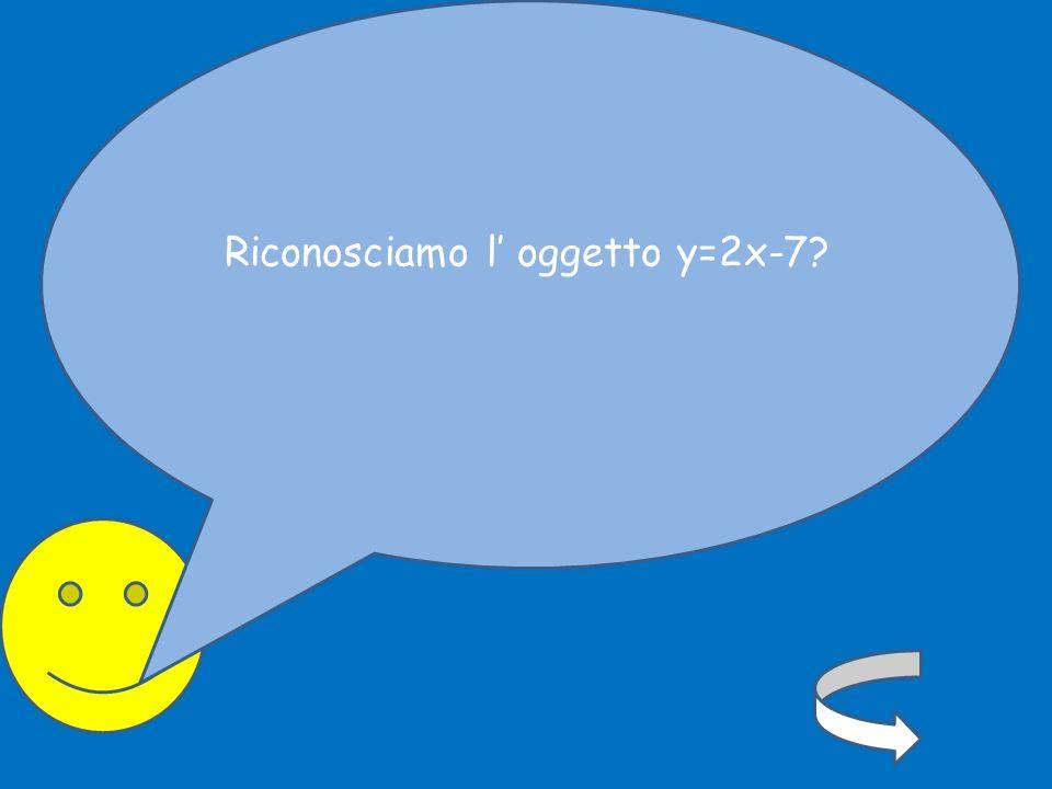 Riconosciamo l oggetto y=2x-7?