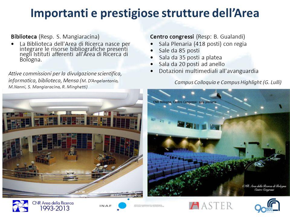 Importanti e prestigiose strutture dellArea Biblioteca (Resp. S. Mangiaracina) La Biblioteca dell'Area di Ricerca nasce per integrare le risorse bibli