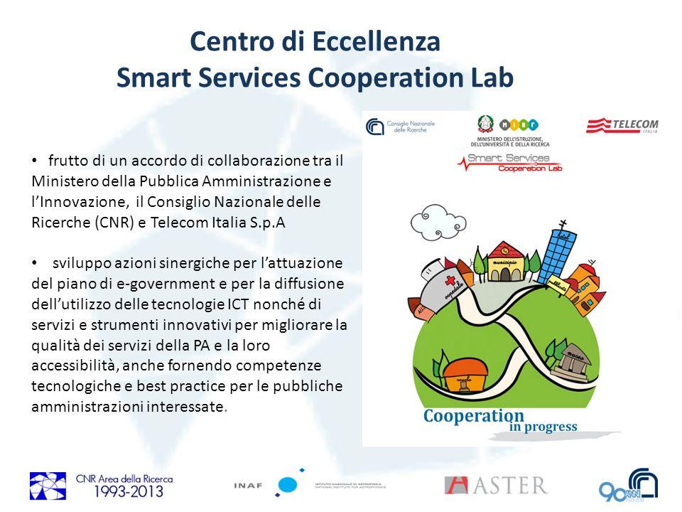 Centro di Eccellenza Smart Services Cooperation Lab frutto di un accordo di collaborazione tra il Ministero della Pubblica Amministrazione e lInnovazi
