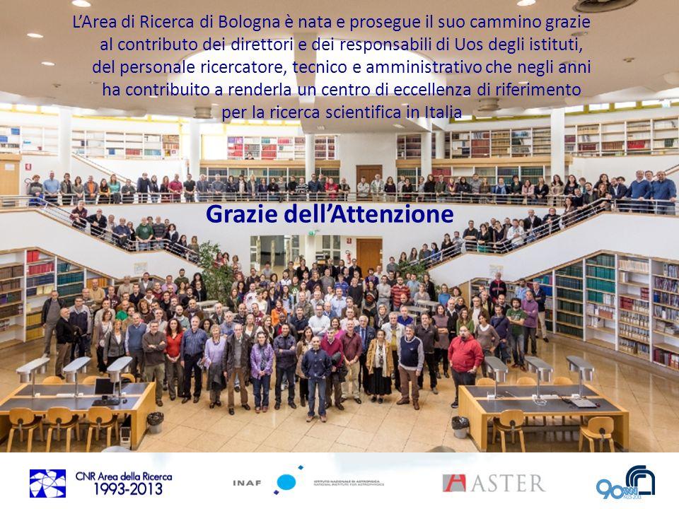 Grazie dellAttenzione LArea di Ricerca di Bologna è nata e prosegue il suo cammino grazie al contributo dei direttori e dei responsabili di Uos degli