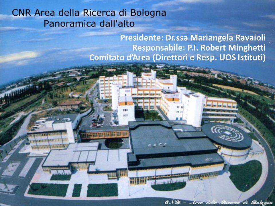 Presidente: Dr.ssa Mariangela Ravaioli Responsabile: P.I. Robert Minghetti Comitato dArea (Direttori e Resp. UOS Istituti)