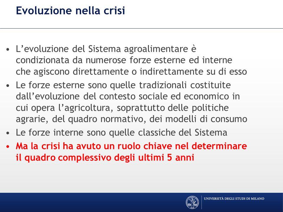 La crisi diventa strutturale.