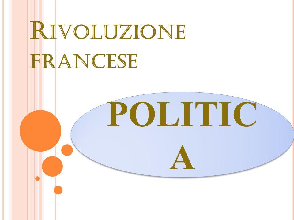 R IVOLUZIONE FRANCESE POLITIC A