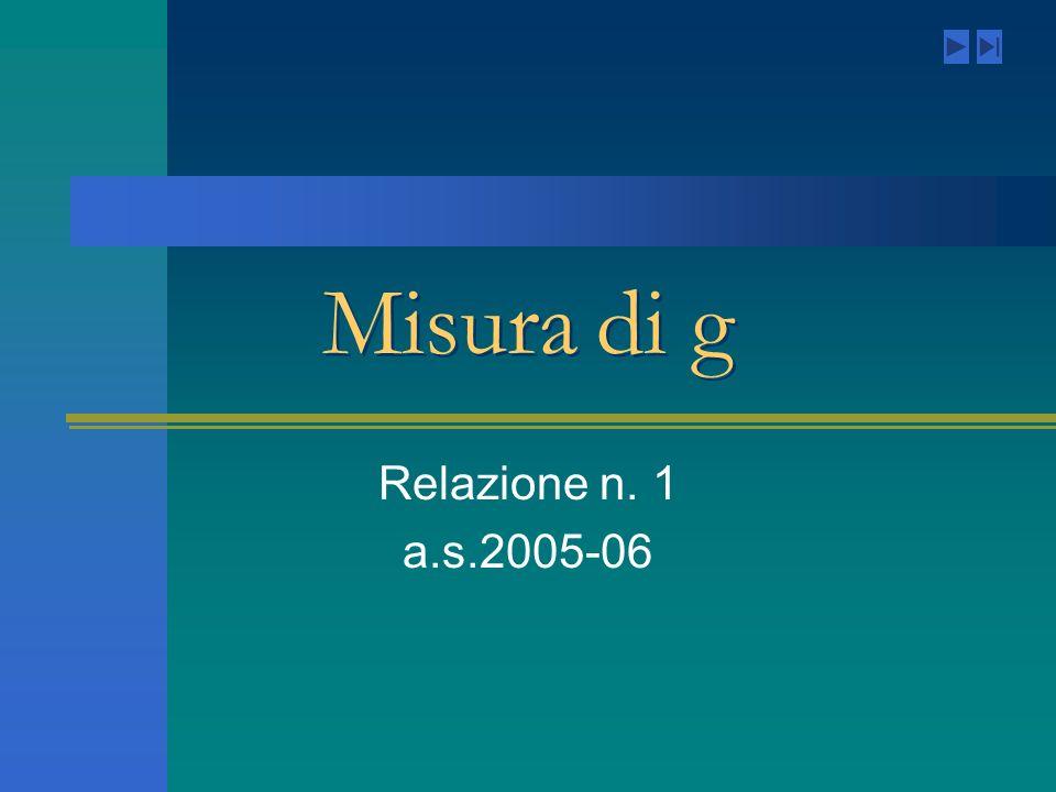 Misura di g Relazione n. 1 a.s.2005-06