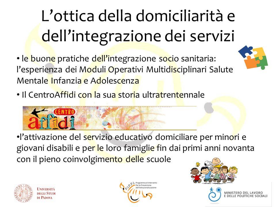 Lottica della domiciliarità e dellintegrazione dei servizi le buone pratiche dellintegrazione socio sanitaria: lesperienza dei Moduli Operativi Multid