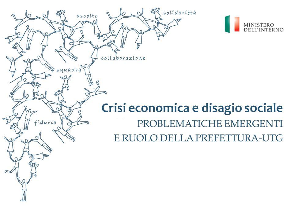 Linee dintervento per la promozione di iniziative positive sul piano economico e prevenzione del disagio sociale.