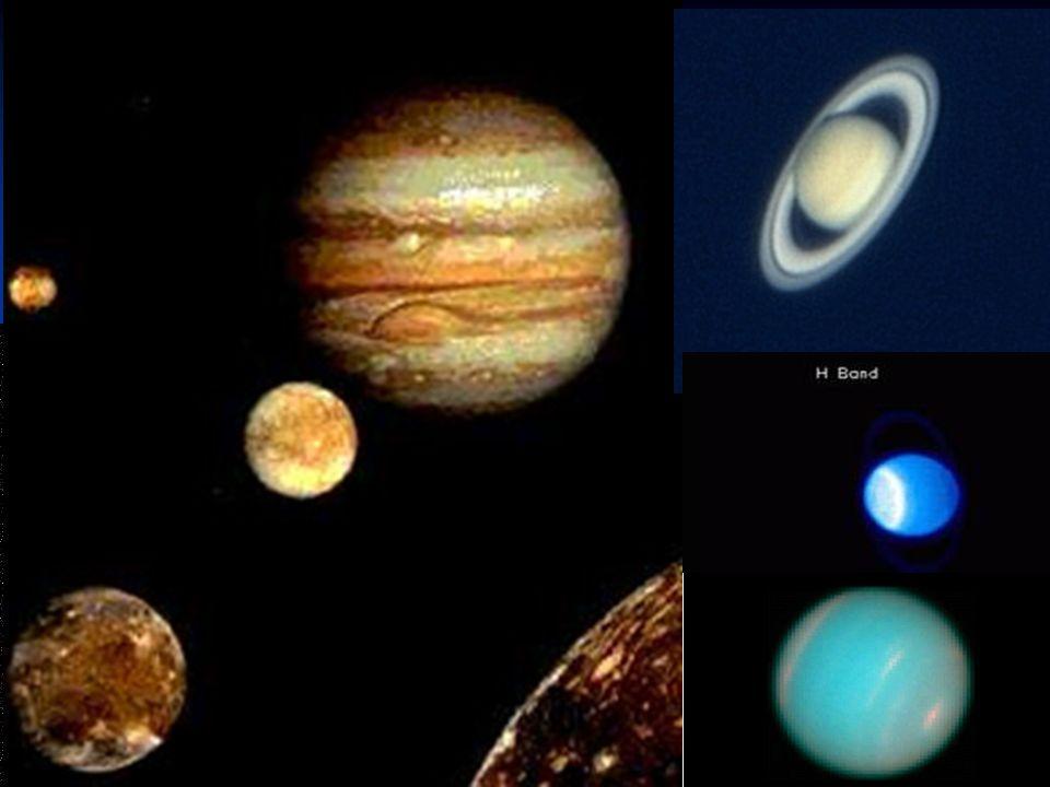 I pianeti giganti: gassosi e ghiacciati Alcuni considerano Giove e Saturno come stelle mancate poiché la loro composizione è simile a quella del Sole