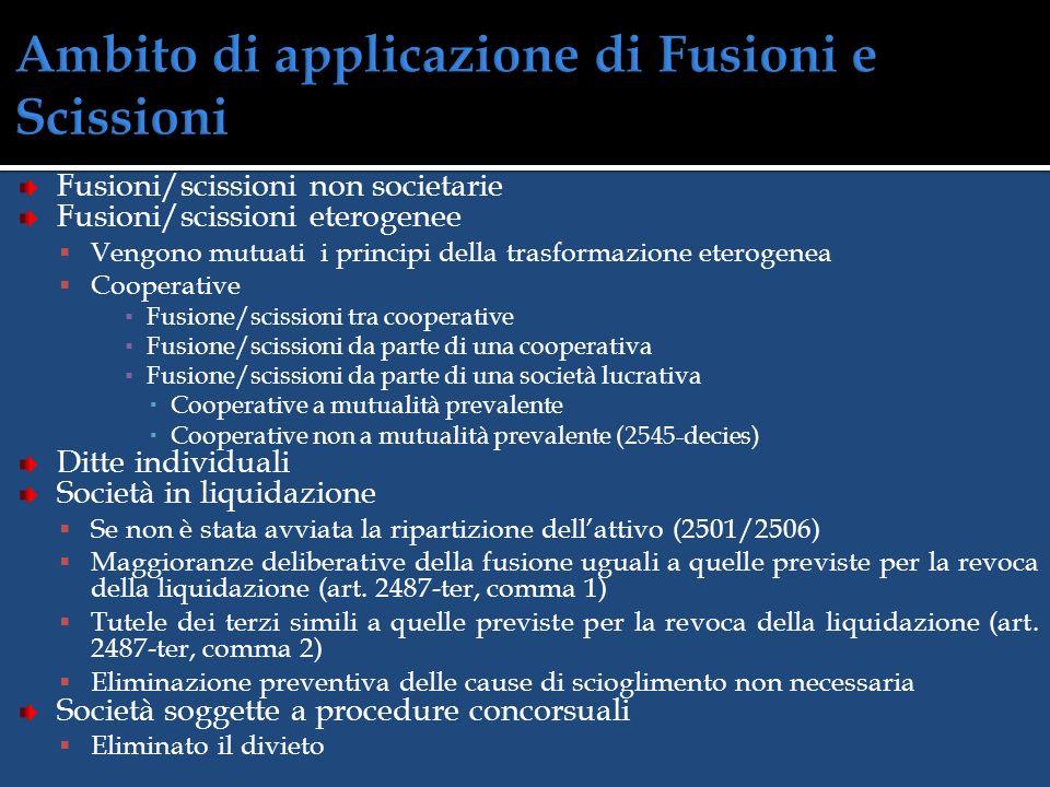 FUSIONE SCAMBIO DI PARTECIPAZIONI Società A Società B Società (A + B) Società (A + B) y y x x z z w w Società A Società B Società B y y x x Società (A