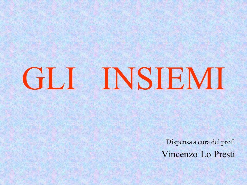 GLI INSIEMI Dispensa a cura del prof. Vincenzo Lo Presti