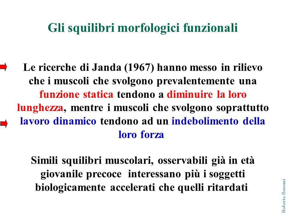 Le ricerche di Janda (1967) hanno messo in rilievo che i muscoli che svolgono prevalentemente una funzione statica tendono a diminuire la loro lunghez
