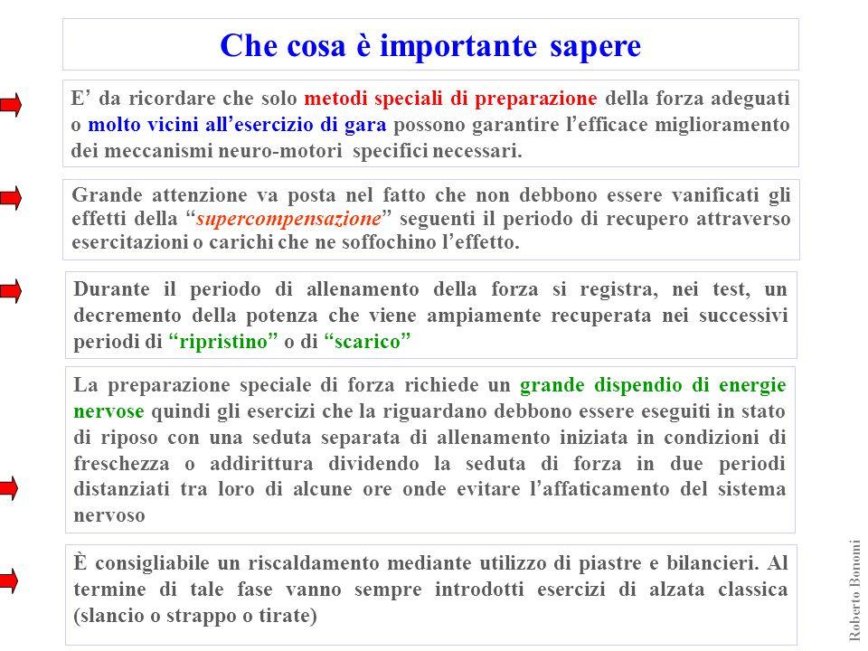 Roberto Bonomi Grande attenzione va posta nel fatto che non debbono essere vanificati gli effetti della supercompensazione seguenti il periodo di recu