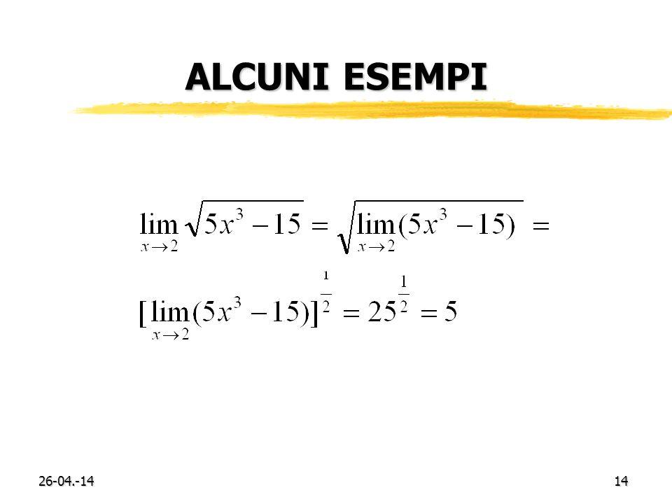 26-04.-1414 ALCUNI ESEMPI