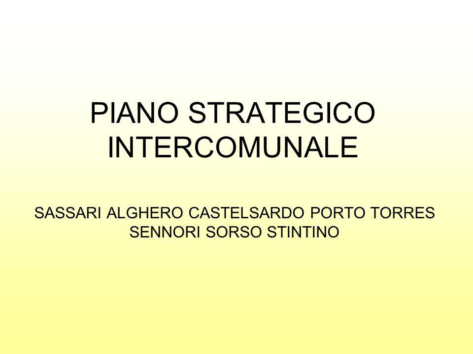 PIANO STRATEGICO INTERCOMUNALE SASSARI ALGHERO CASTELSARDO PORTO TORRES SENNORI SORSO STINTINO