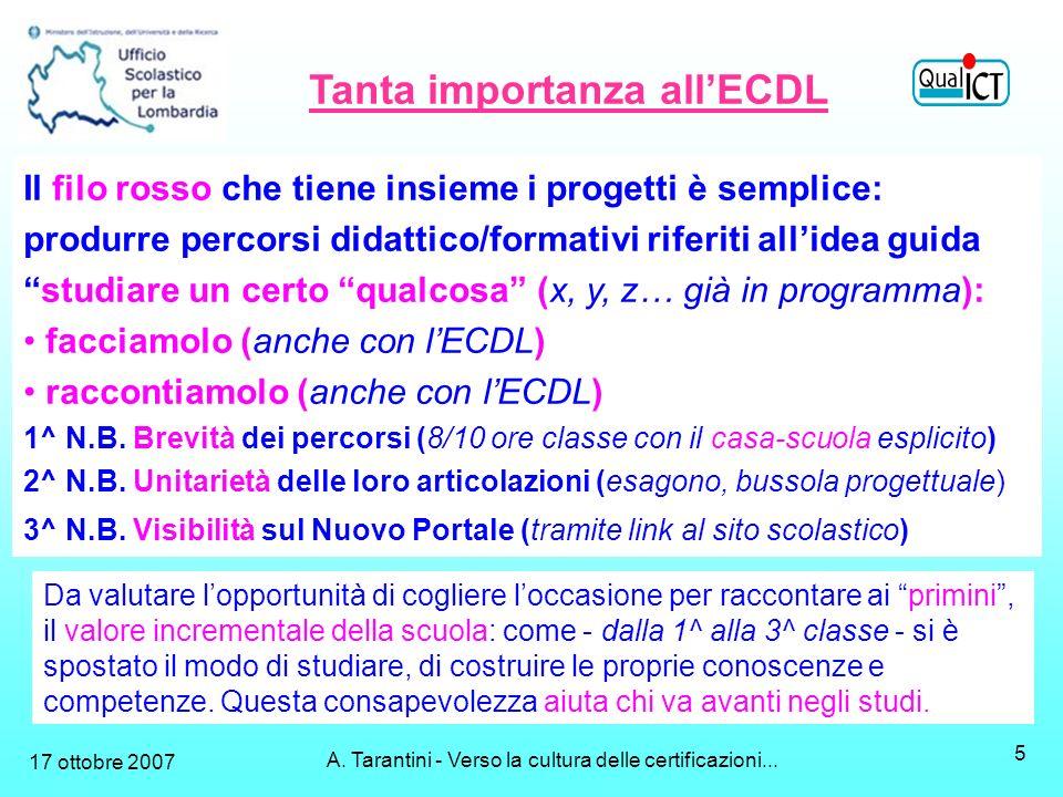 A. Tarantini - Verso la cultura delle certificazioni...