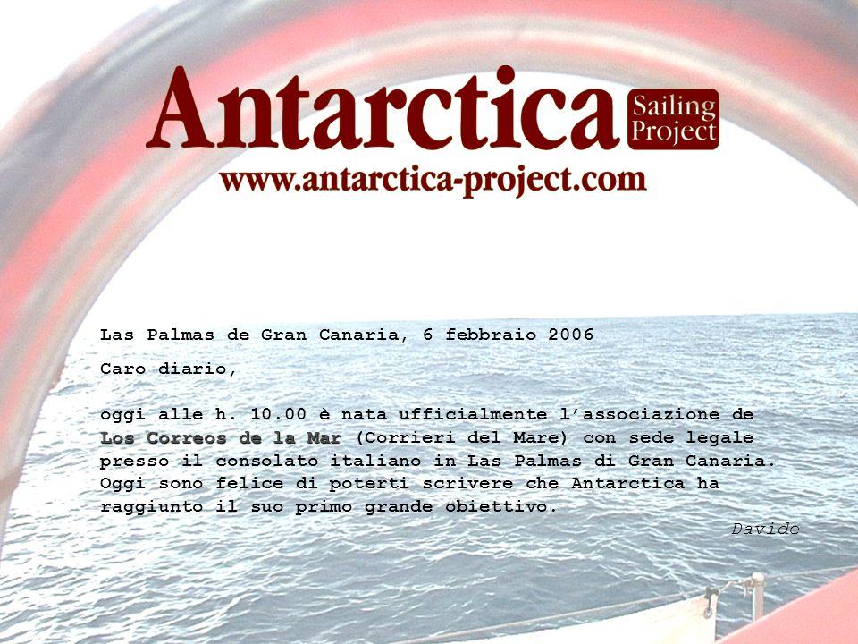 Las Palmas de Gran Canaria, 6 febbraio 2006 Caro diario, Los Correos de la Mar oggi alle h.