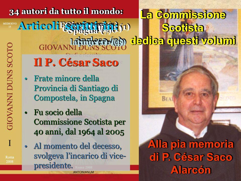 Alla pia memoria di P.César Saco Alarcón Alla pia memoria di P.