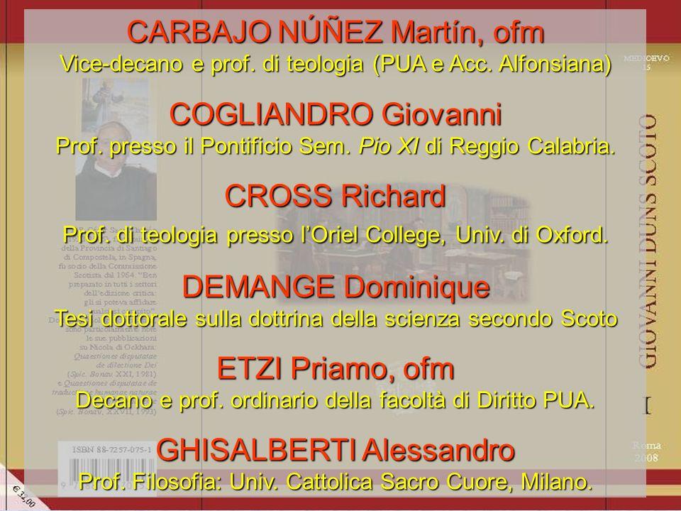 BEER F.,...Convergence avec le Teilhard de Chardin ROCCARO G., De secundarum intentionum natura...