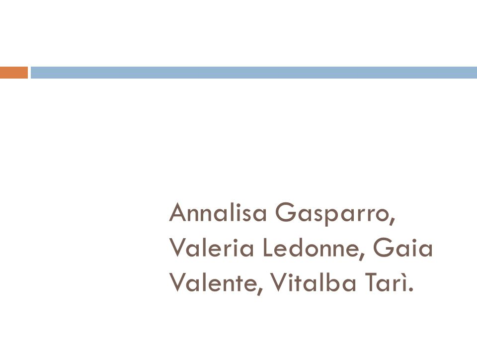 Annalisa Gasparro, Valeria Ledonne, Gaia Valente, Vitalba Tarì.