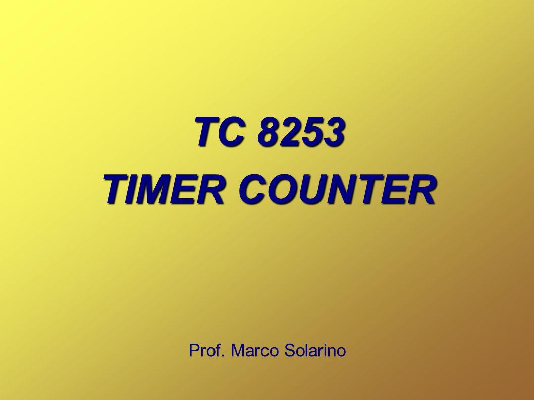 2 CHE COSA E Il TC 8253 è un temporizzatore/contatore (Timer/Counter) programmabile.
