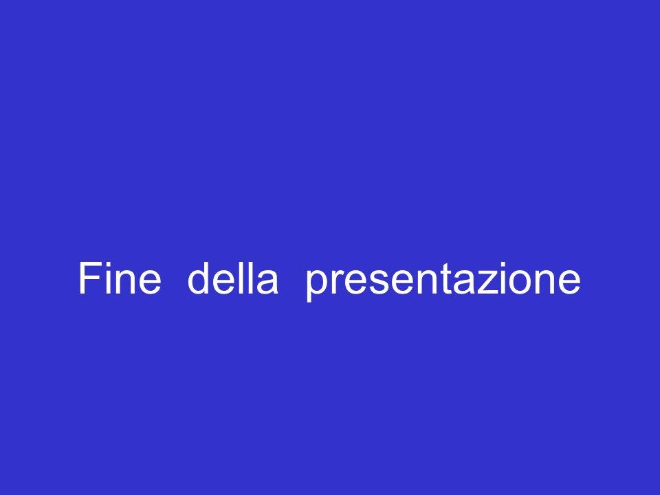 Fine della presentazione Fine