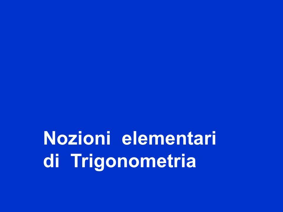 Nozioni elementari di Trigonometria titolo