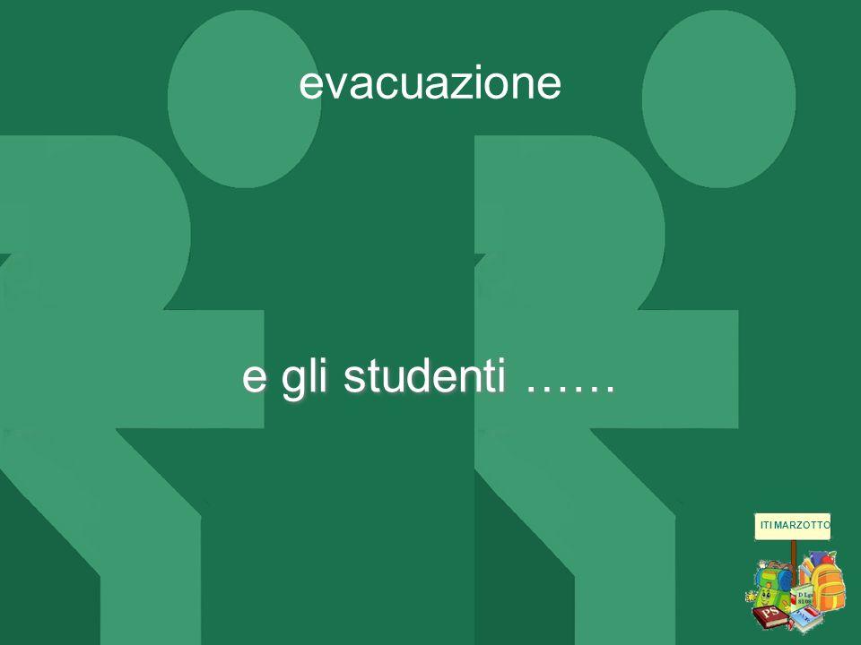 ITI MARZOTTO e gli studenti …… evacuazione