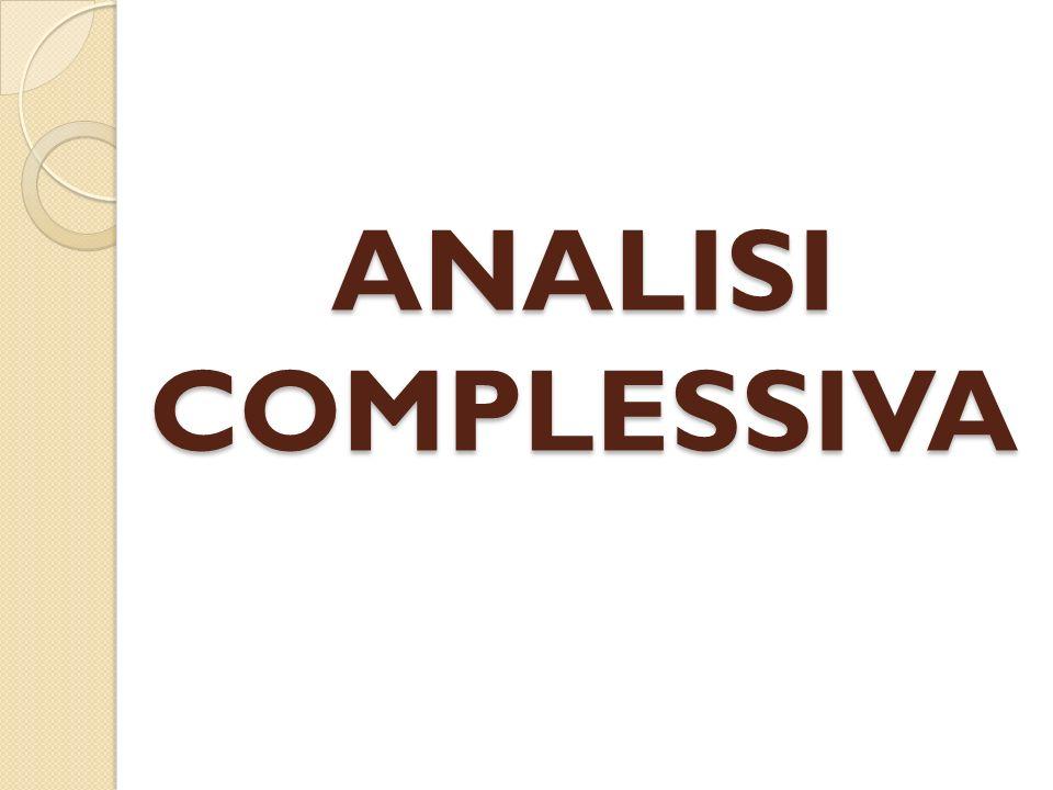 ANALISI COMPLESSIVA