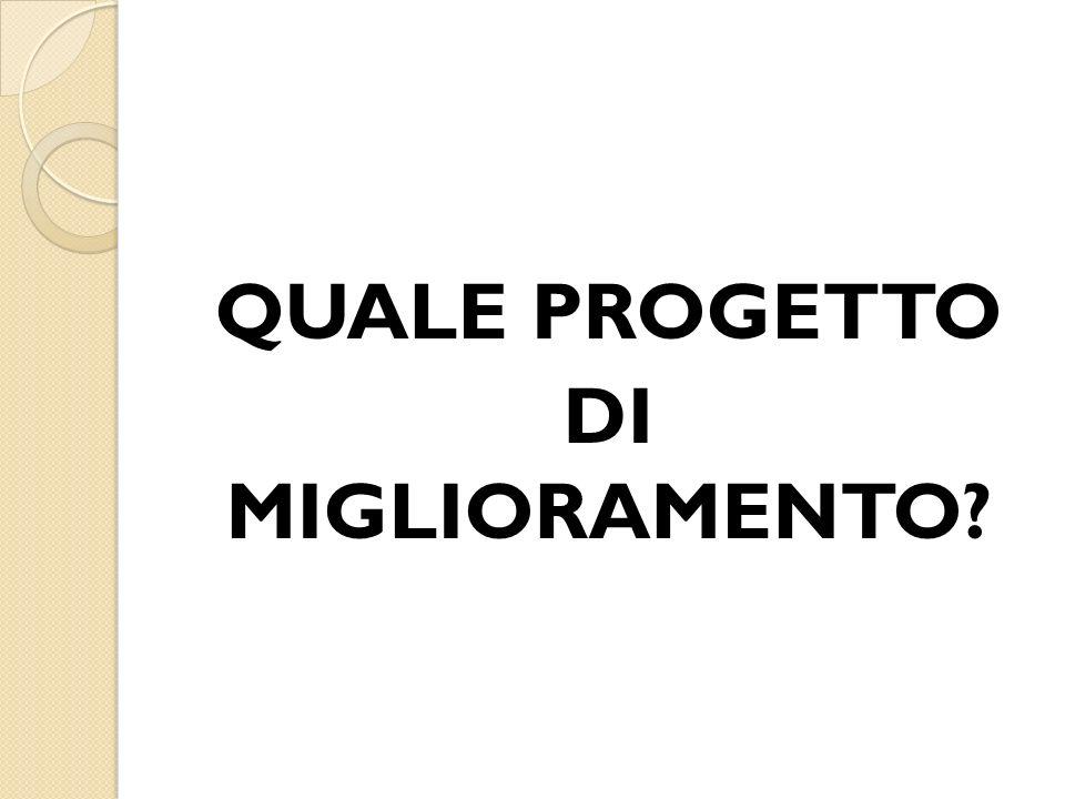 QUALE PROGETTO DI MIGLIORAMENTO