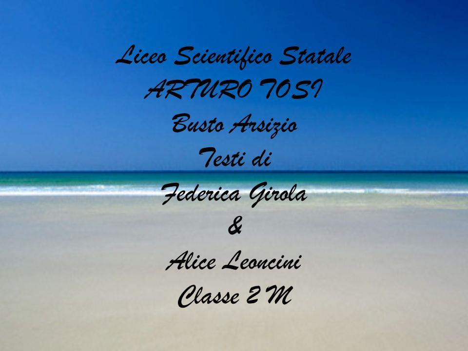 Liceo Scientifico Statale ARTURO TOSI Busto Arsizio Testi di Federica Girola & Alice Leoncini Classe 2 M