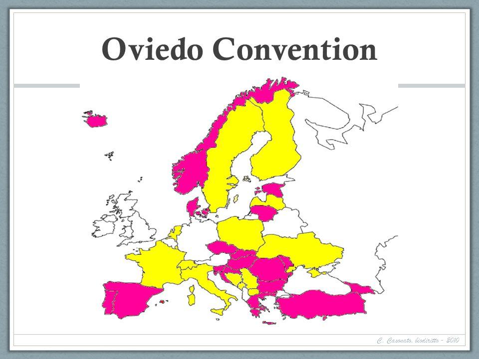 Oviedo Convention C. Casonato, biodiritto - 2010