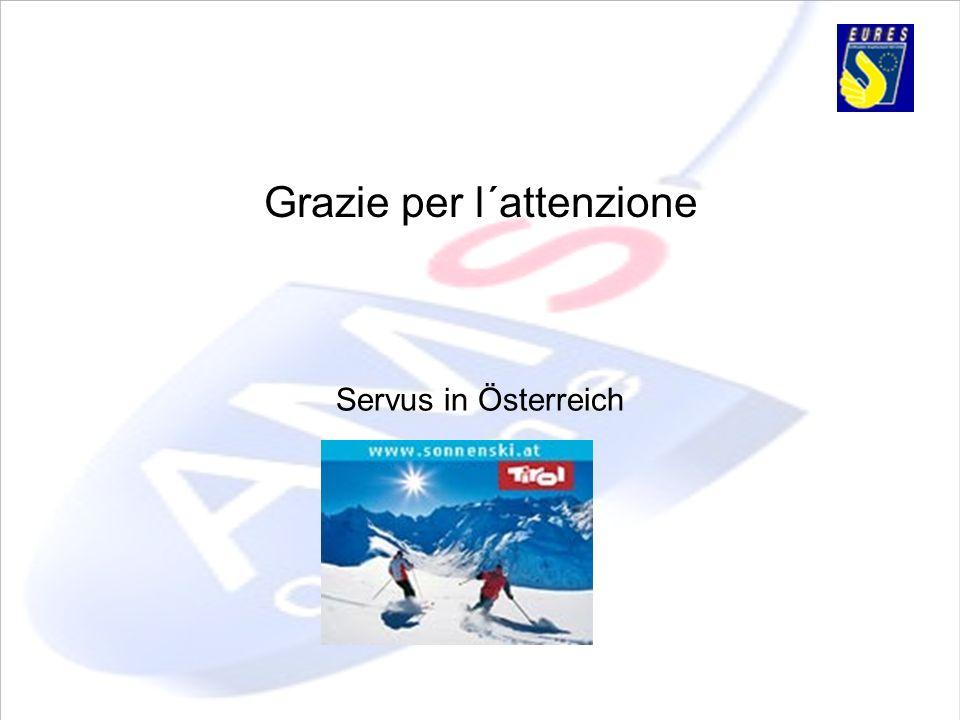 Grazie per l´attenzione Servus in Österreich