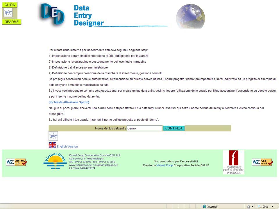 Situazione e Sviluppi futuri Attualmente i dati inseriti e le immagini scansionate non restano sul sito in cui è installato DED, ma vengono esportati in locale ed utilizzati su altri software.
