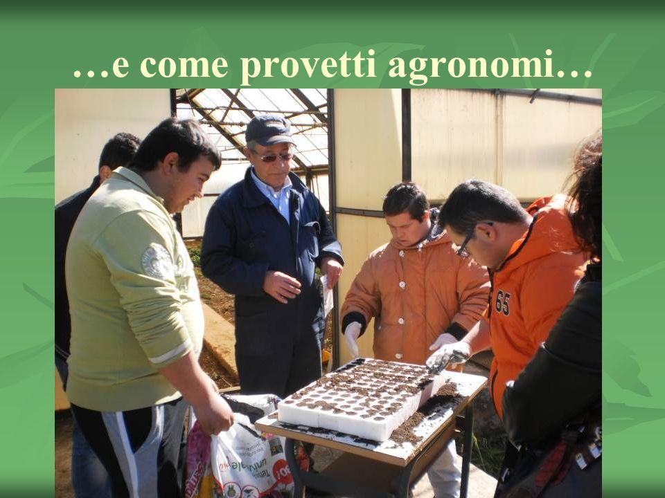 …e come provetti agronomi…