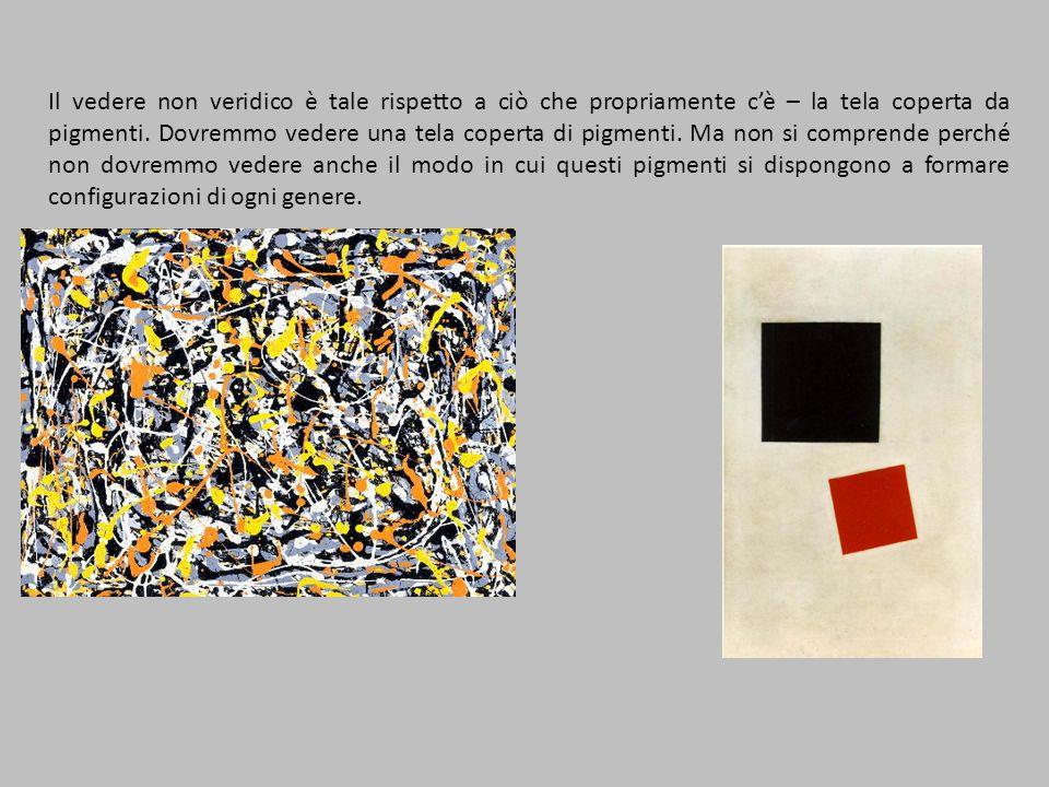 Il vedere non veridico è tale rispetto a ciò che propriamente cè – la tela coperta da pigmenti.