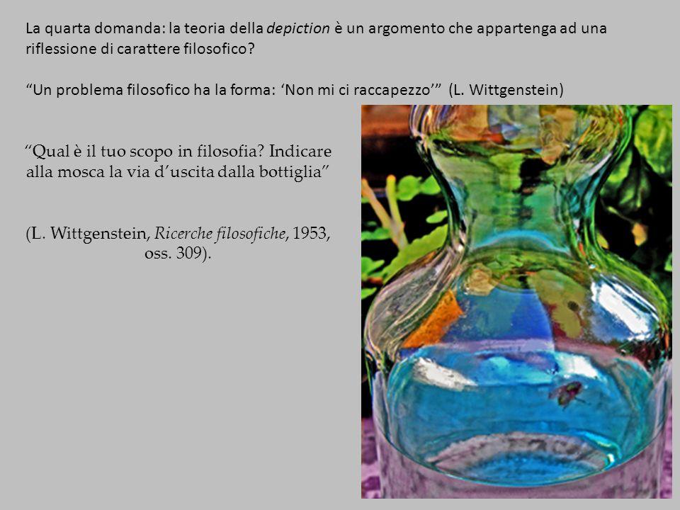 La quarta domanda: la teoria della depiction è un argomento che appartenga ad una riflessione di carattere filosofico.
