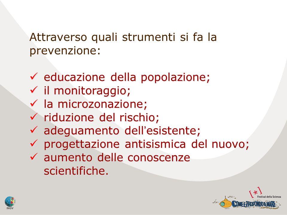 Attraverso quali strumenti si fa la prevenzione: educazione della popolazione; educazione della popolazione; il monitoraggio; il monitoraggio; la micr