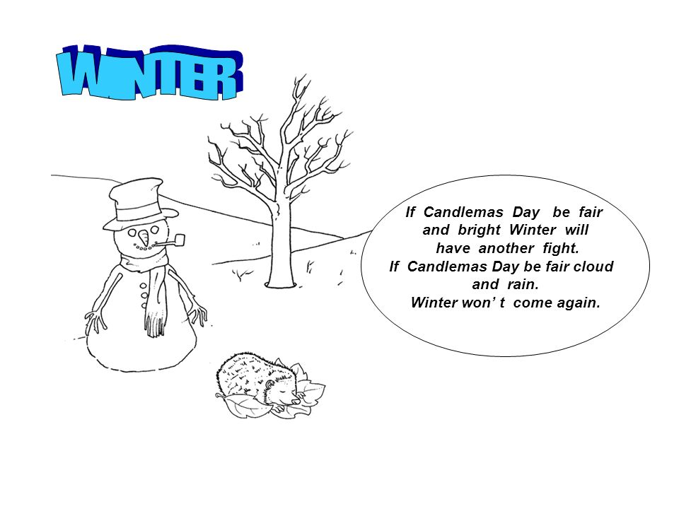 If Candlemas Day be fair and bright Winter will have another fight.