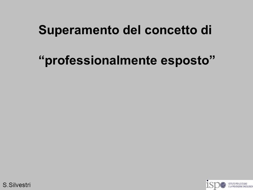 Superamento del concetto di professionalmente esposto S.Silvestri
