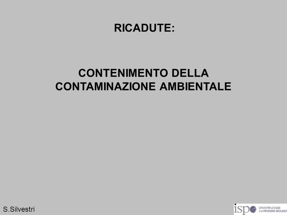 RICADUTE: CONTENIMENTO DELLA CONTAMINAZIONE AMBIENTALE S.Silvestri
