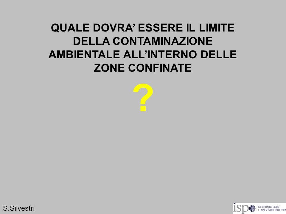 QUALE DOVRA ESSERE IL LIMITE DELLA CONTAMINAZIONE AMBIENTALE ALLINTERNO DELLE ZONE CONFINATE ? S.Silvestri