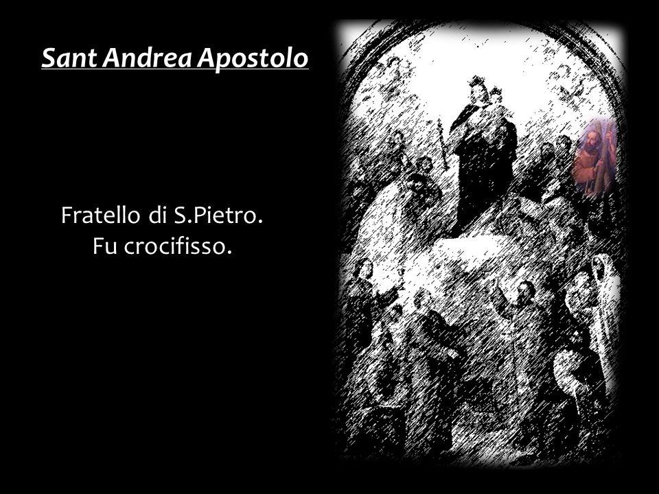 Fratello di S.Pietro. Fu crocifisso. Sant Andrea Apostolo